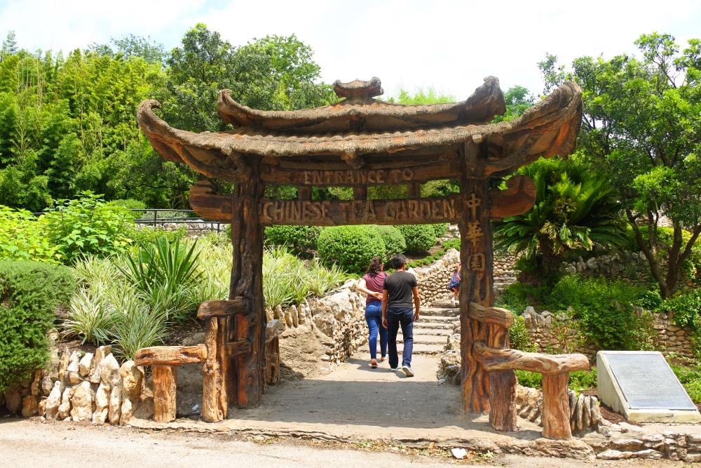 サンアントニオの日本庭園(アメリカ合衆国国家歴史登録財)で日系移民の痕跡に触れる。