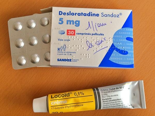 フランスのアトピー治療でもらった薬