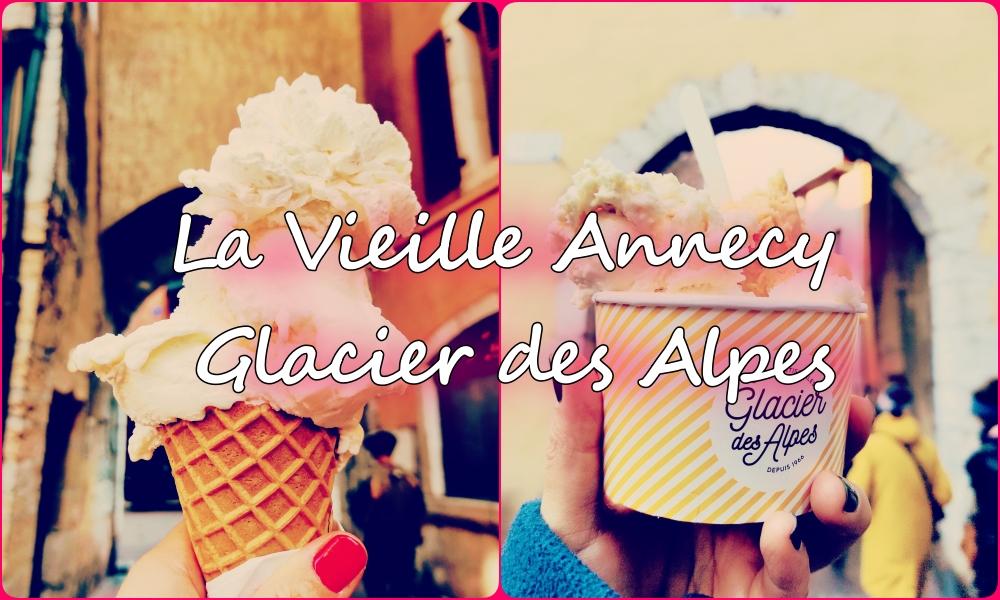 アヌシー旧市街のアイス屋さんGlacier des Alpesがおすすめ
